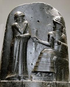 Codice di Hammurabi, bassorilievo al Louvre